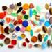 Perles en verre pressées
